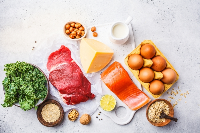 Foods like nuts, eggs, cheese, and some meats that are high in protein, can help you grow hair faster and thicker.