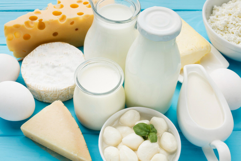 Dairy, like milk and cheese, are some of the most common sources of butyrate acid.
