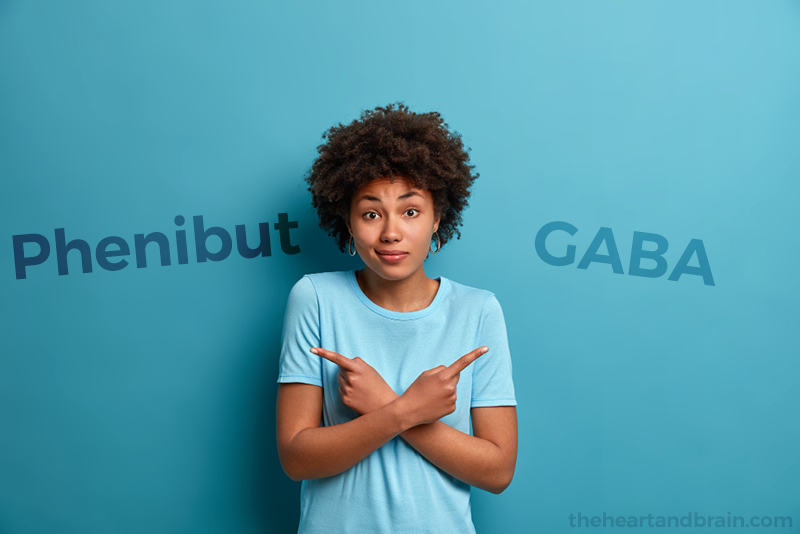 A young female considering her options between taking Phenibut or GABA.