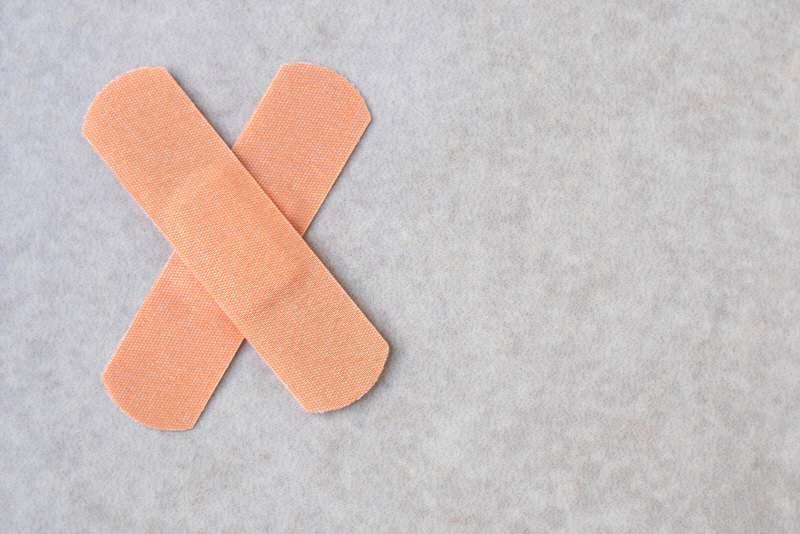 Bandaids can be a cheap and quick fix for women to cover their nipples if they're showing too much outside the clothes.
