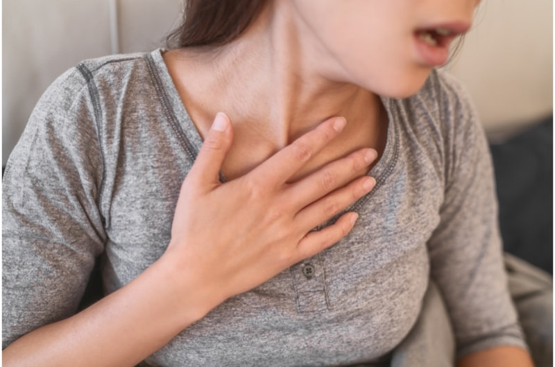 A young woman who is having difficulty breathing might have a condition called Pulmonary Fibrosis.