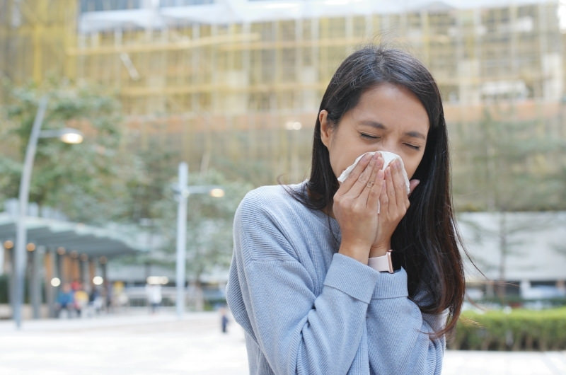 A young woman who is constantly getting a runny nose after eating might have gustatory Rhinitis.