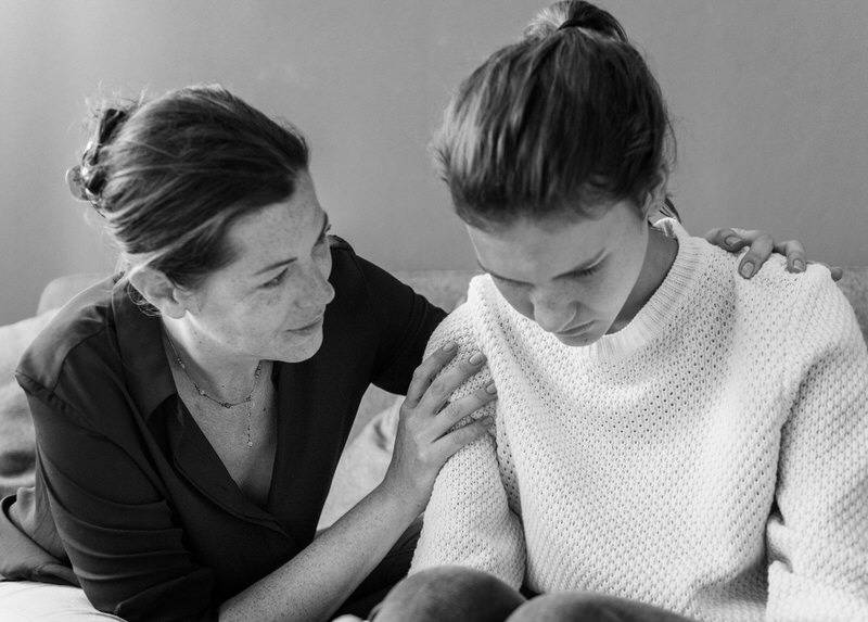 A daughter is getting support from her mom after getting diagnosed with Multiple Sclerosis.